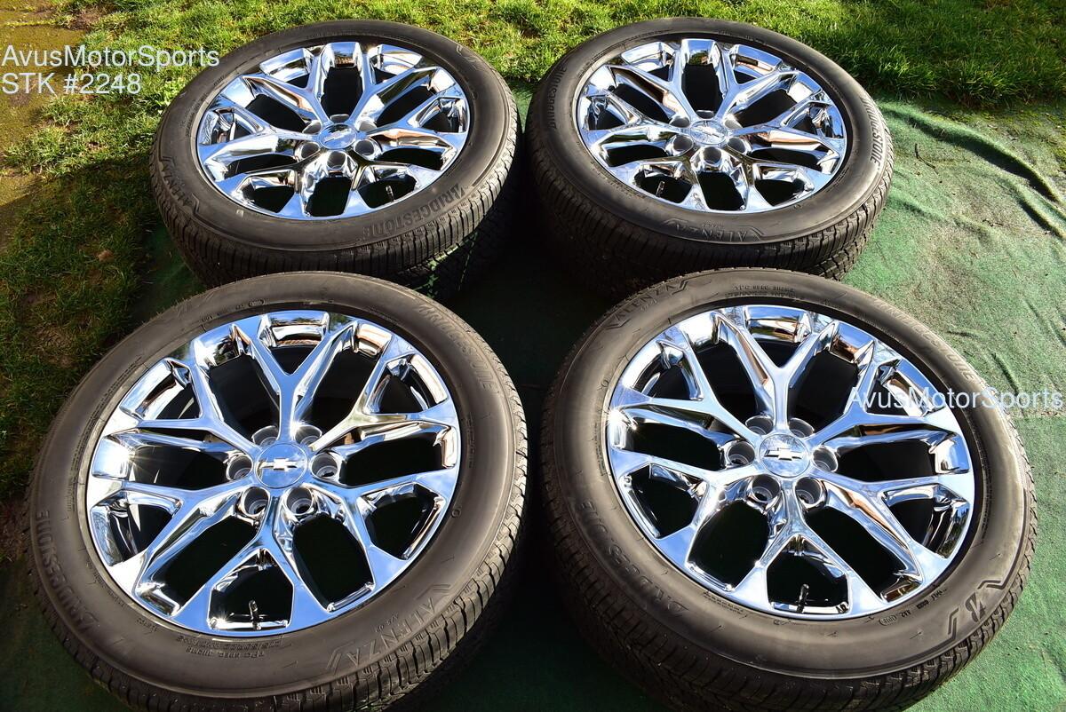 "22"" Chevrolet SILVERADO 1500 OEM FACTORY Chrome WHEELs Tahoe GMC Sierra YUKON 19"