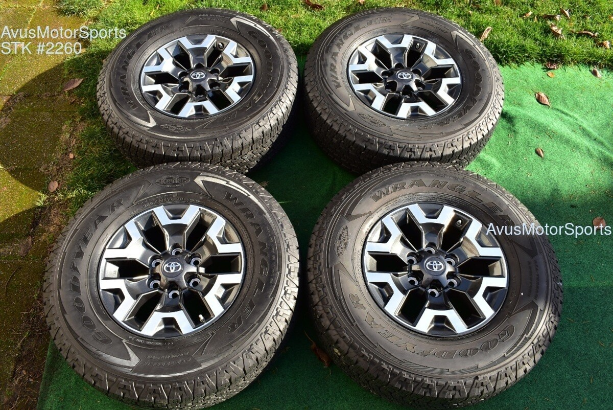 "16"" TOYOTA TACOMA OEM FACTORY TRD OFFROAD WHEELS Tires 4runner Tundra 2020 TPMS"
