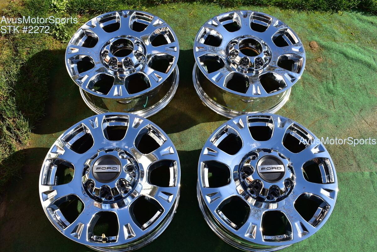 "20"" Ford F250 Super Duty OEM Factory Chrome PVD Wheels F350 Lariat 2020 2019"