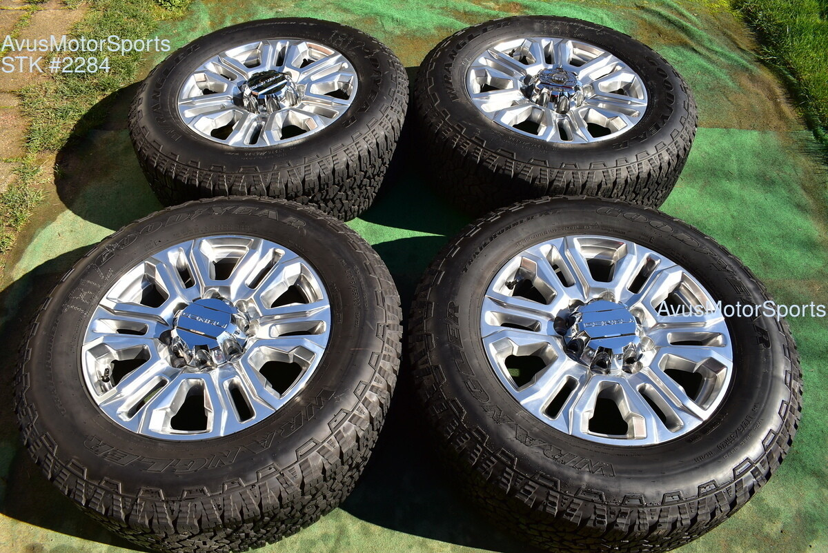 "20"" GMC Sierra Denali 2500 3500 OEM FACTORY polish WHEELS chevy silverado 2020"
