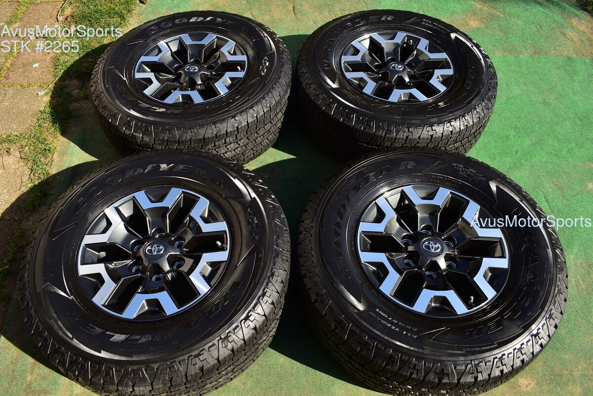 """16"""" TOYOTA TACOMA OEM FACTORY TRD OFFROAD WHEELS Tires 4runner Tundra 2020 TPMS"""