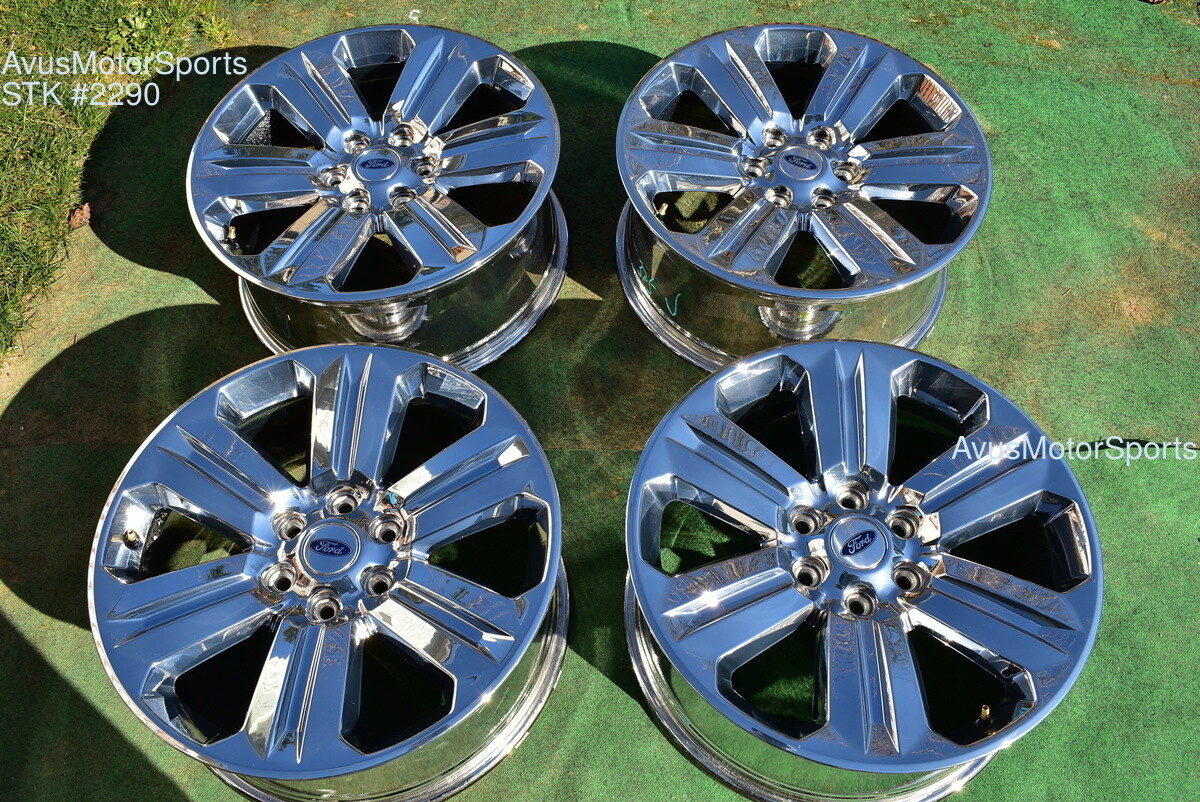 "20"" Ford F150 OEM Factory Chrome PVD Wheels Expedition 2017 2018 Lariat"
