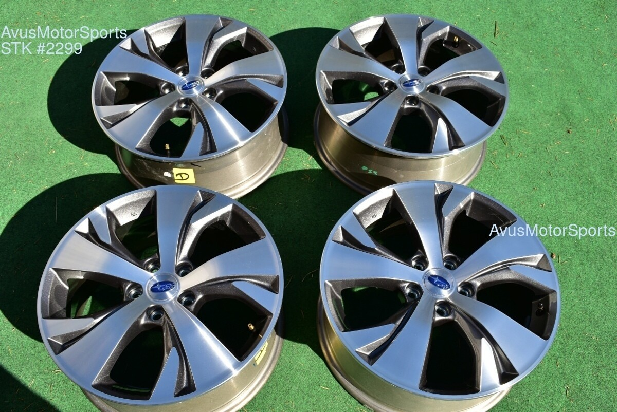 "18"" Subaru Ascent Premium OEM Factory Wheels 2019 Genuine Outback"