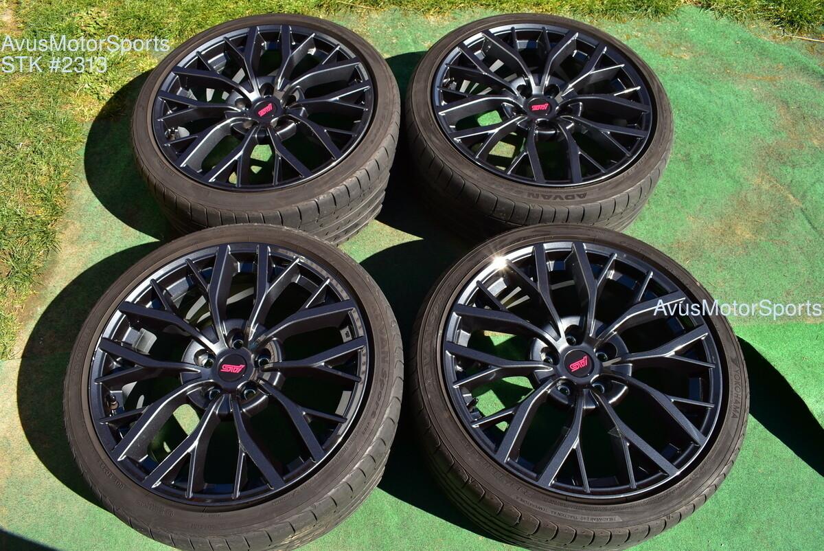 "19"" Subaru WRX STI OEM Factory Charcoal Gray Wheels Tires 2018 5x114 5x4.5 TPMS"