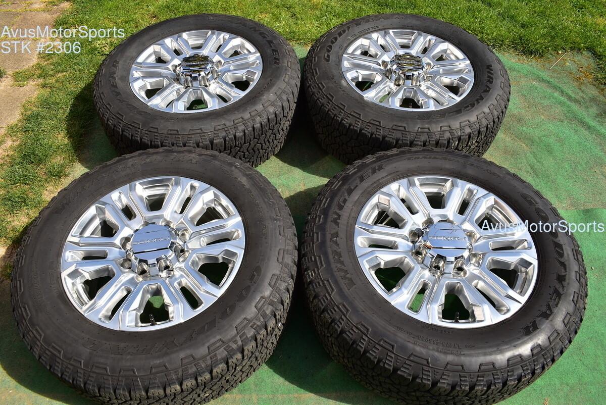 "20"" GMC Sierra 2500 3500 Denali OEM FACTORY polish WHEELS chevy silverado 2020"