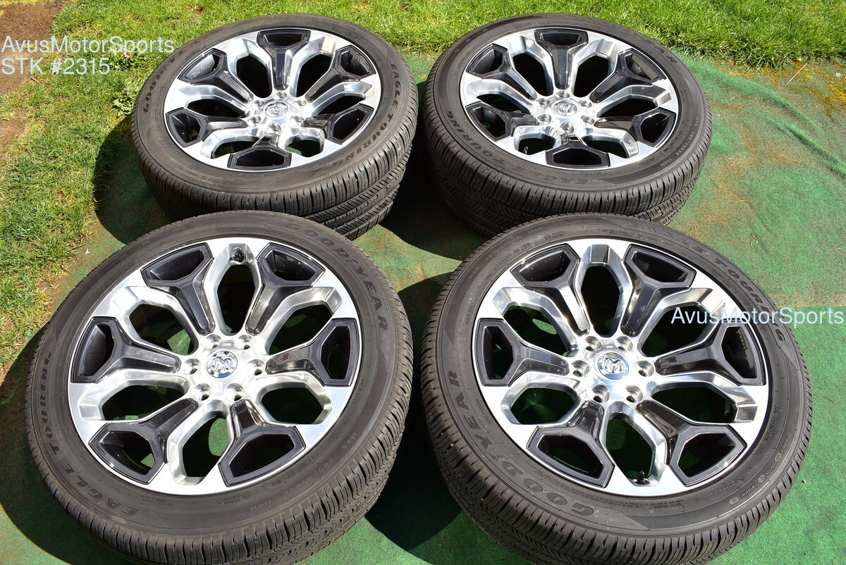 "22"" Dodge Ram 1500 Limited OEM 2019 Laramie Factory Wheels Genuine tires"