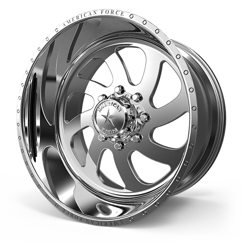 """24x14 AMERICAN FORCE 76 Blade SS FORGED WHEELS 24"""" Chevy GMC 2500 3500 8x180"""