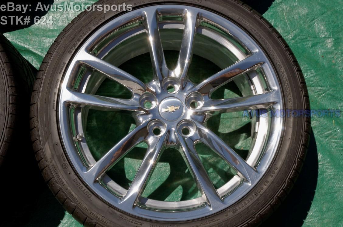 "2014 CHEVROLET SS Sports Sedan 19"" OEM Rear FACTORY WHEEL & Tire Alcoa 92290394"