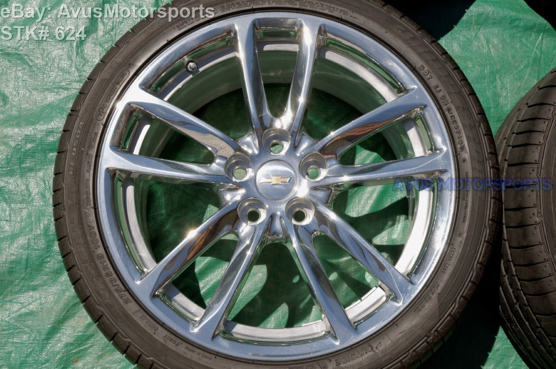 "2014 CHEVROLET SS Sports Sedan 19"" OEM Rear FACTORY WHEEL & Tire Alcoa 92290394"