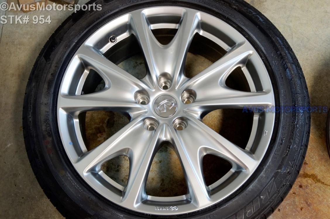 "2011 Infiniti G37 18"" Factory OEM Front Wheel & Bridgestone 225/50r18 G25 2012 NO78875JU44A"