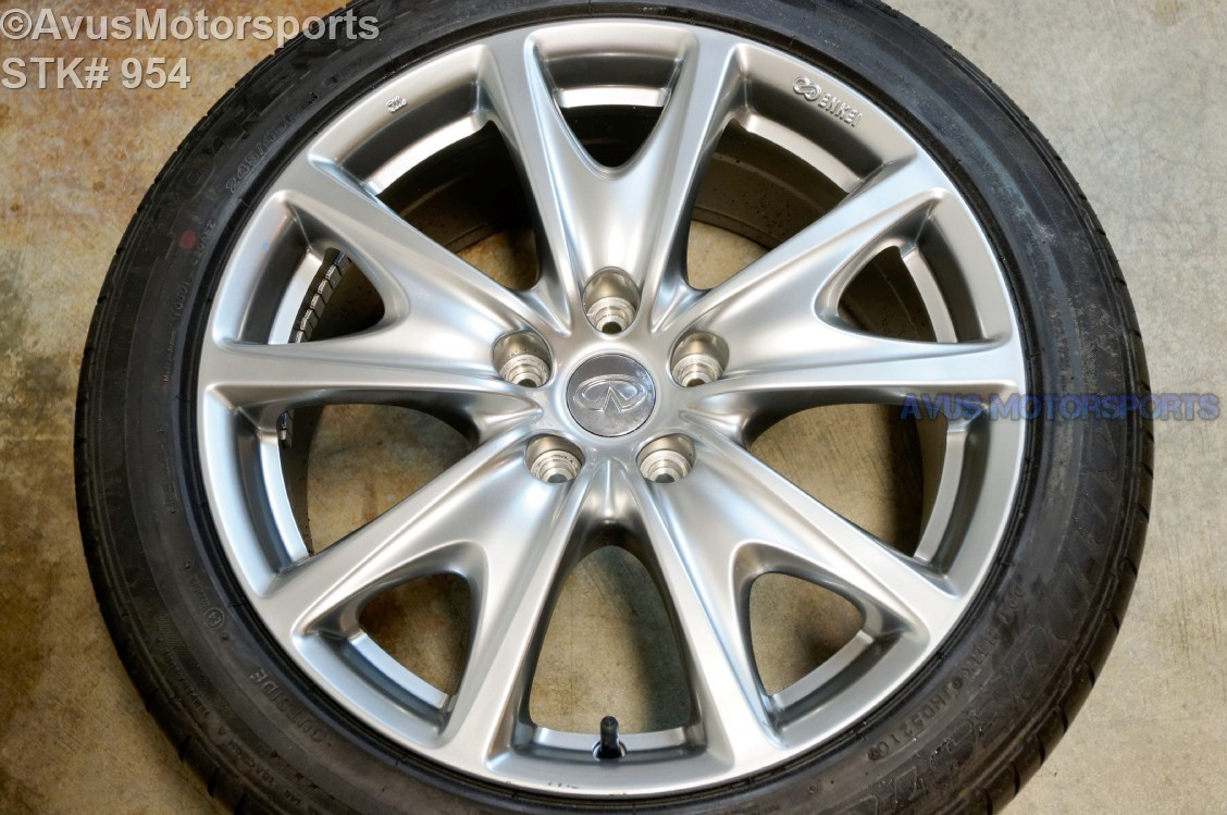 "2011 Infiniti G37 18"" Factory OEM Rear Wheel & Bridgestone 245/45r18 G25 2012"