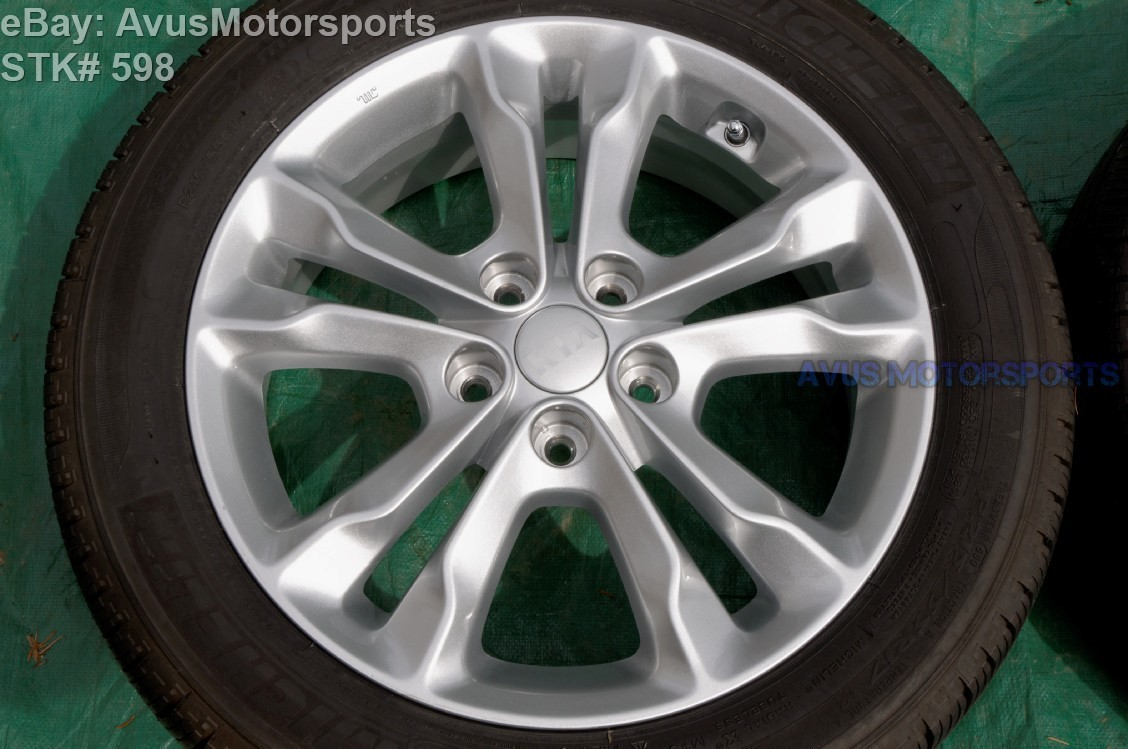 "2014 Kia Optima OEM FACTORY 17"" WHEEL + Michelin MXV4 P215/55R17 52910-21350"