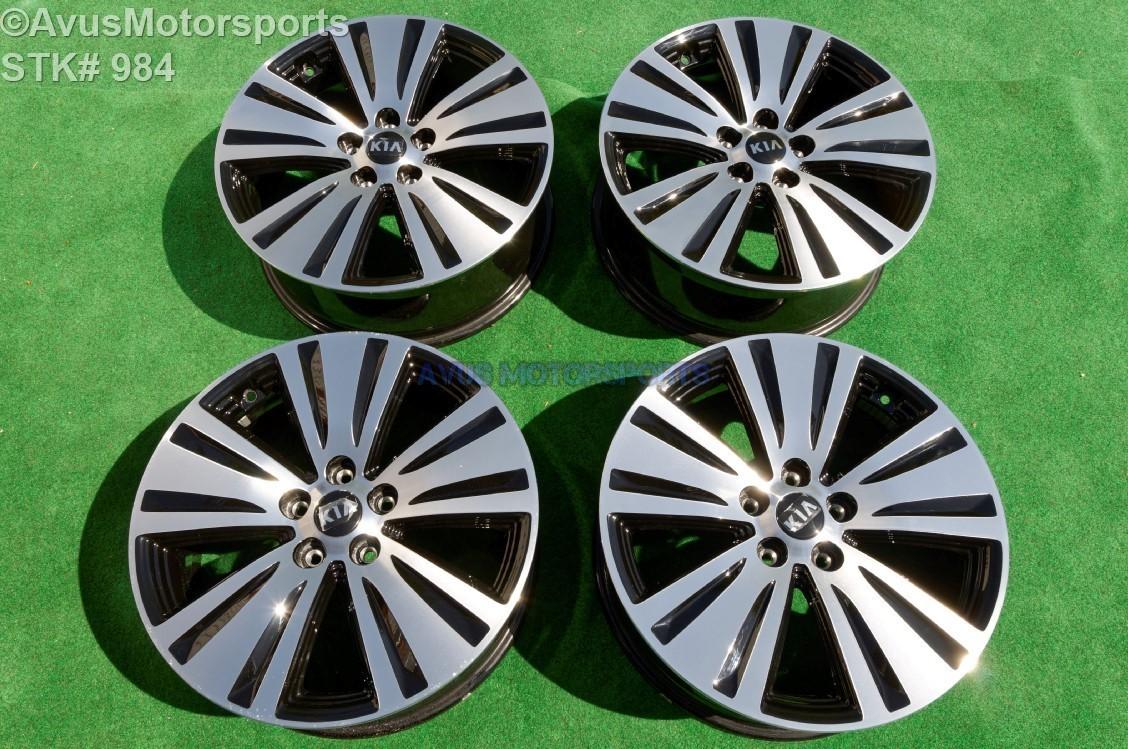 2016 Kia Sportage Black Machined Polished OEM Factory Wheels 2014 2015 529103W710