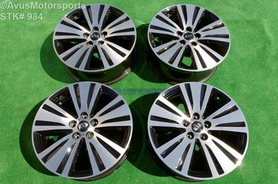 2016 Kia Sportage Black Machined Polished OEM Factory Wheels 2014 2015 529103W710