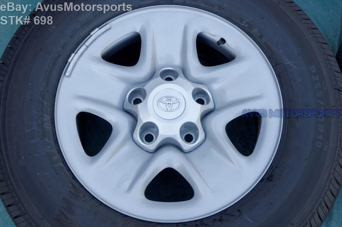 """2015 TOYOTA TUNDRA OEM 18"""" Spare WHEEL Tire SEQUOIA Michelin LTX A/S P255/70R18  426010C040 426010C041"""