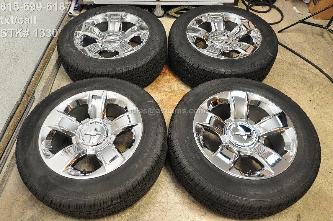 "20"" Chevrolet TAHOE OEM FACTORY Chrome WHEEL TIRE SILVERADO Sierra YUKON 1500"