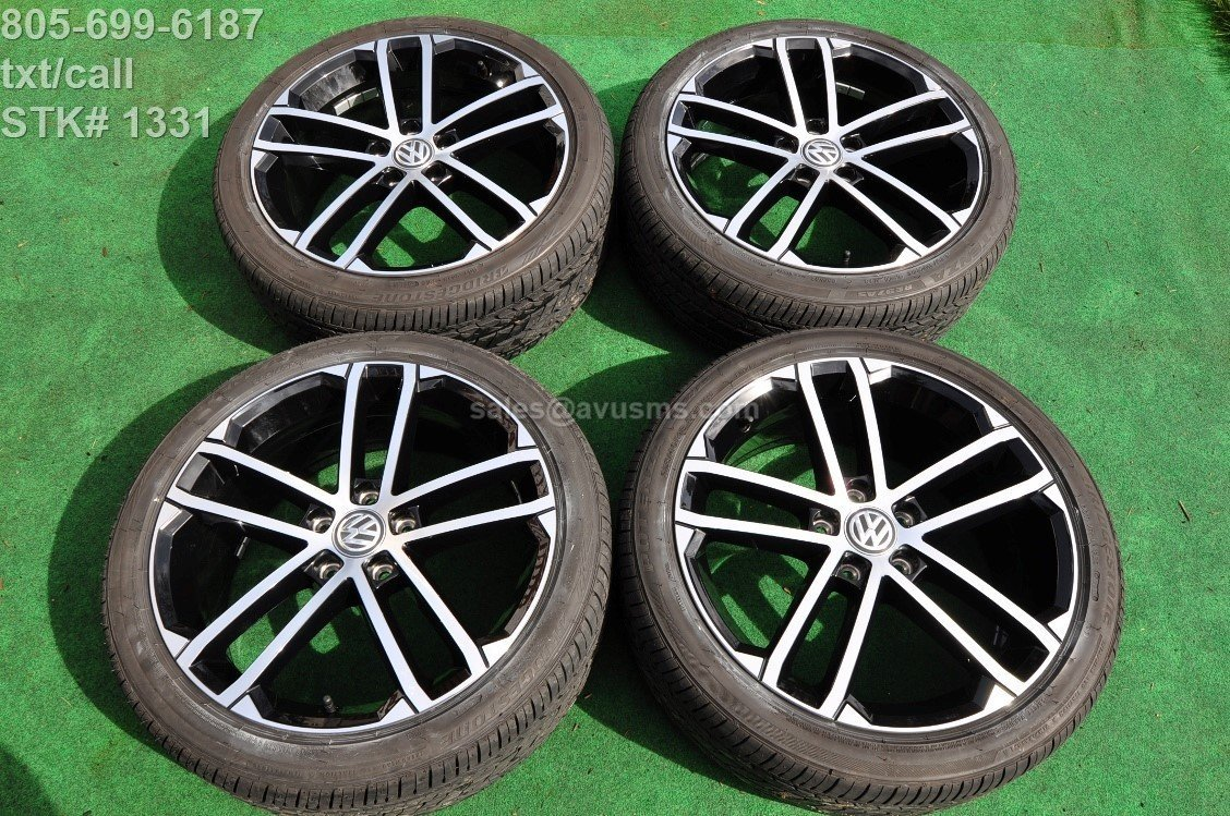 "18"" Volkswagen Golf GTI OEM Factory Nogaro Wheels and p225/40r18 tires"