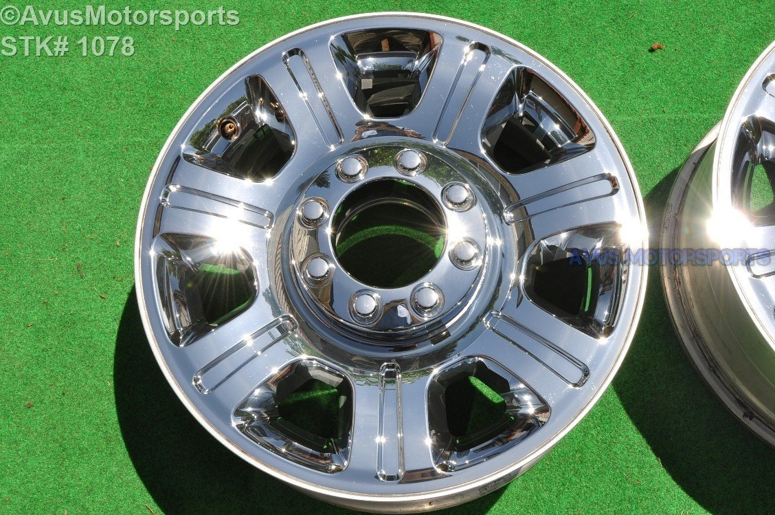 "20"" Ford F250 Super Duty OEM Factory Wheel F350 CHROME CLAD CC3J-1007-AA 11-16"