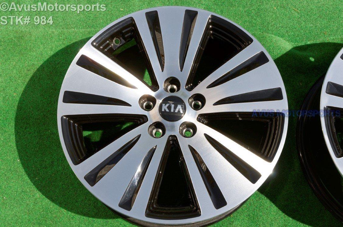 2016 Kia Sportage Black Machined Polished OEM Factory Wheel 2014 2015   529103W710, 529103W700
