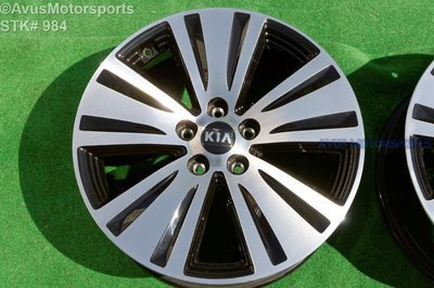 2016 Kia Sportage Black Machined Polished OEM Factory Wheel 2014 2015  	 529103W710, 529103W700