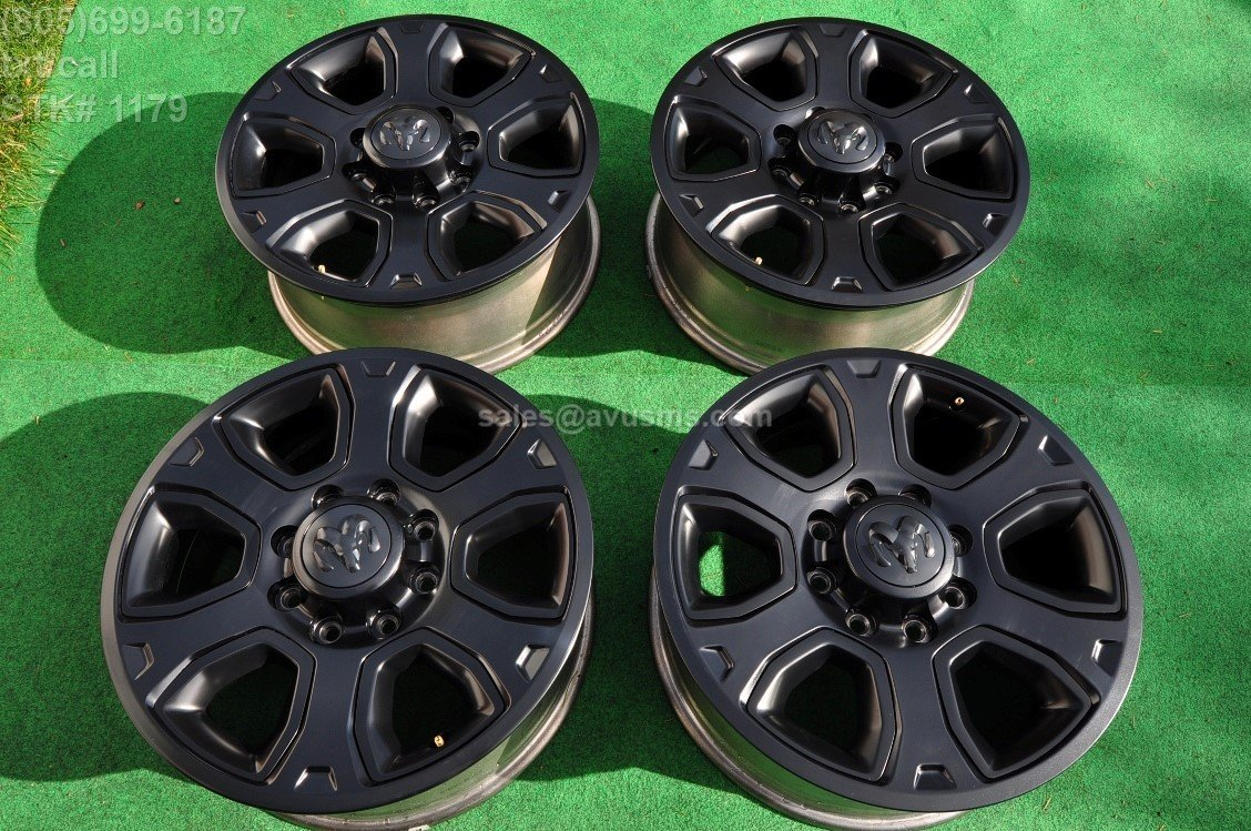 "20"" Dodge Ram OEM Factory Black Edition Wheels Long Horn Laramie 2500 3500 2017"