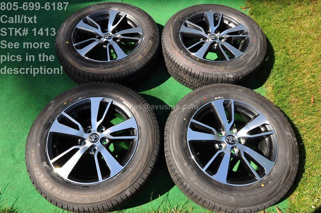"17"" Toyota Rav4 OEM Factory Wheels and Tires 225/65r17 tacoma 2wd 5x114 2017"