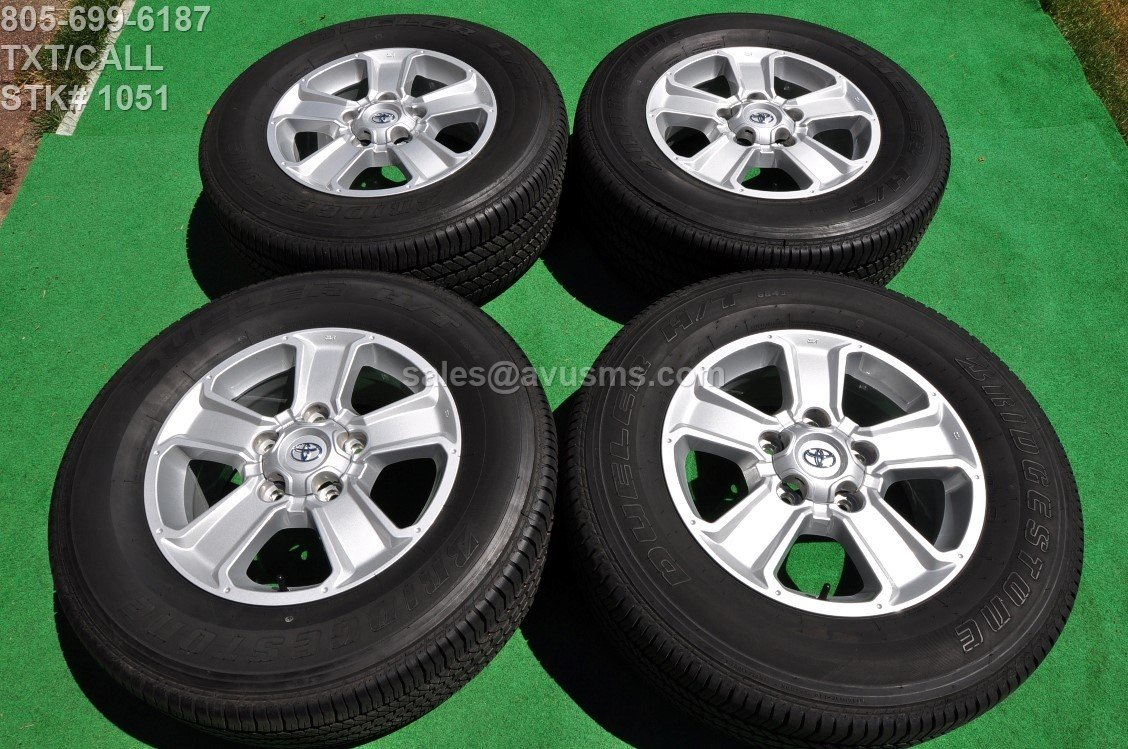 "2016 TOYOTA TUNDRA OEM 18"" Factory WHEELS Tires SEQUOIA Land Cruiser Lx 470"