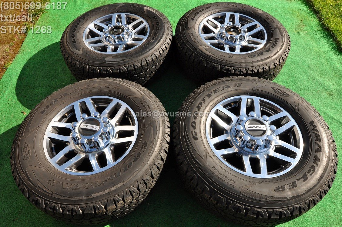 "18"" Ford F350 Super Duty Polished OEM Factory Wheels F250 Lariat 2017 2016 2015 HC3C-1007-AA"