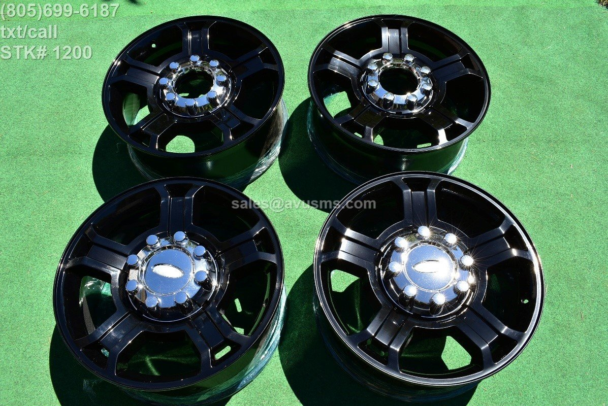 "20"" Ford F250 Super Duty Harley Davidson OEM Factory Wheels F350 Gloss Black"