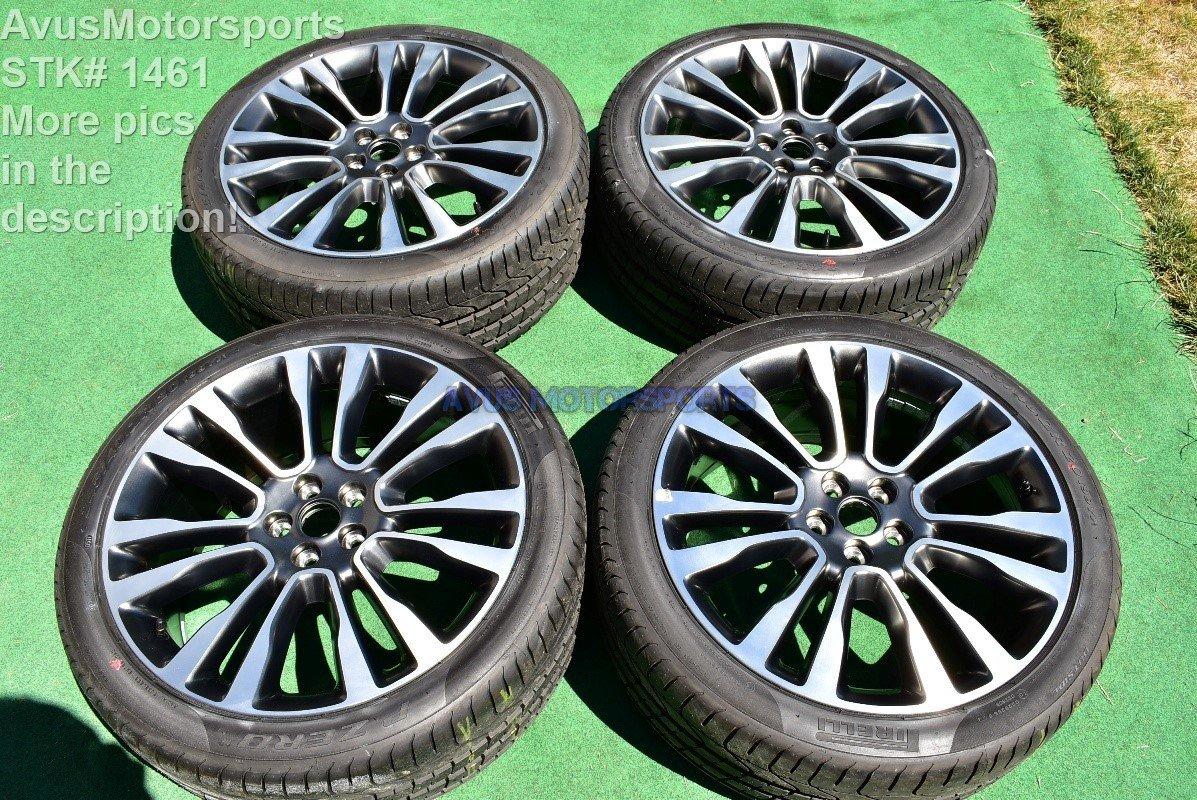 "20"" Lincoln Continental OEM FACTORY WHEELS + Pirelli P-Zero 245/40ZR20 Tires"