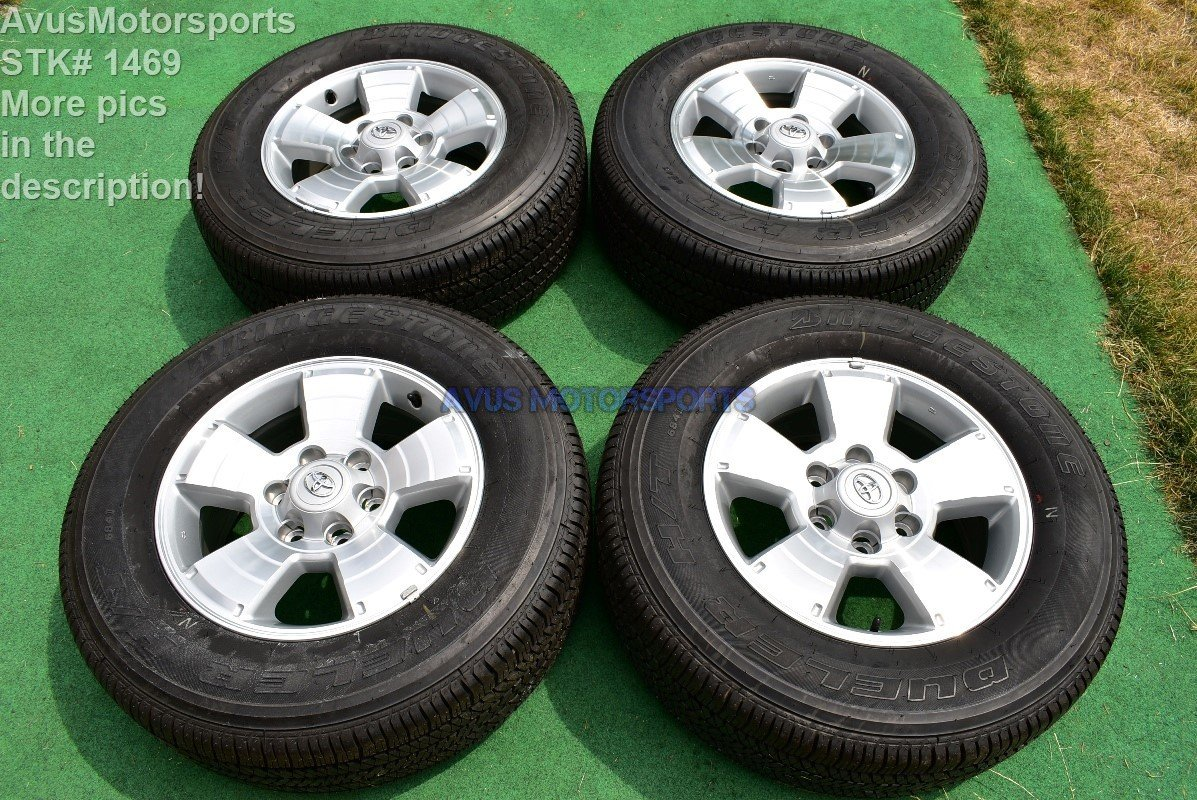 "2014 TOYOTA TACOMA OEM FACTORY 17"" TRD WHEELS Tires Land Cruiser 4runner Tundra"