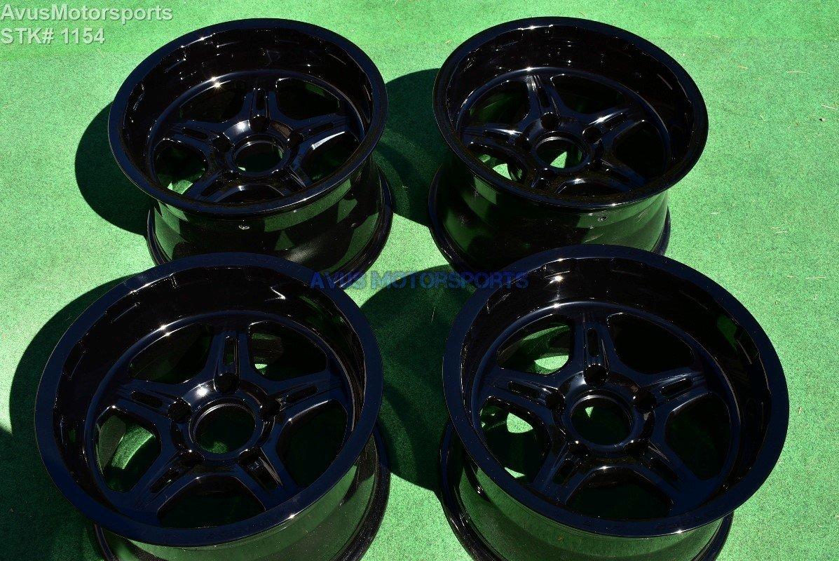 """17"""" Weld Cheyenne Wheels Powder Coated Gloss Black Dodge Ram OEM 1500 Dakota"""