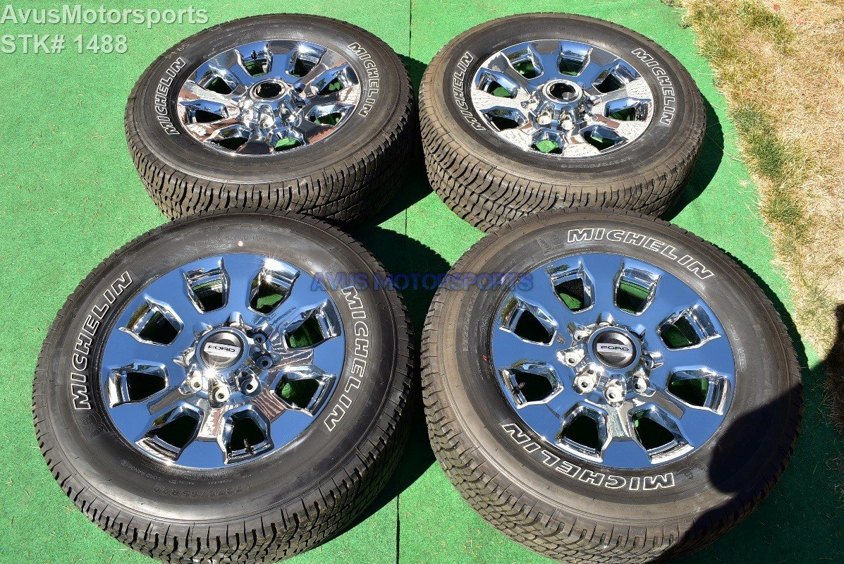 "20"" Ford F350 Super Duty Lariat OEM Factory Chrome PVD Wheels F250 2017"