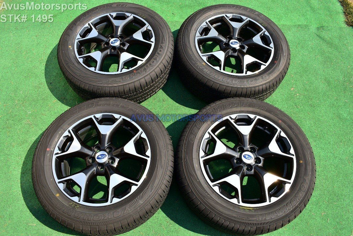 "2018 Subaru XV Crosstrek OEM 17"" Factory Wheels Yokohama P225/55R17 Tires"