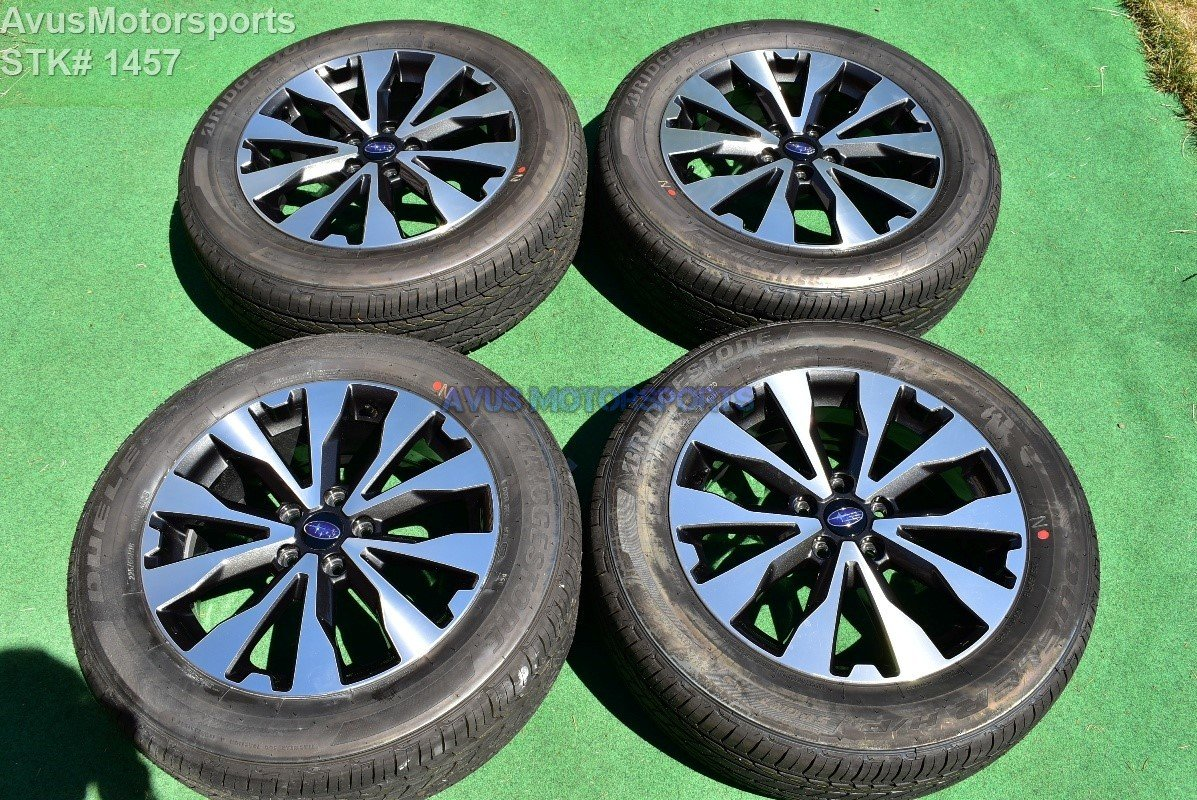 """18"""" Subaru Outback Limited OEM Factory Wheels 225/60R18 Tires 2016 2017 + TPMS"""