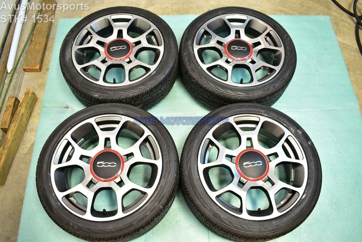 "Fiat 500 Sport 16"" Factory OEM Wheels and Tires 500C 2013 2012 2014 2015 2011"
