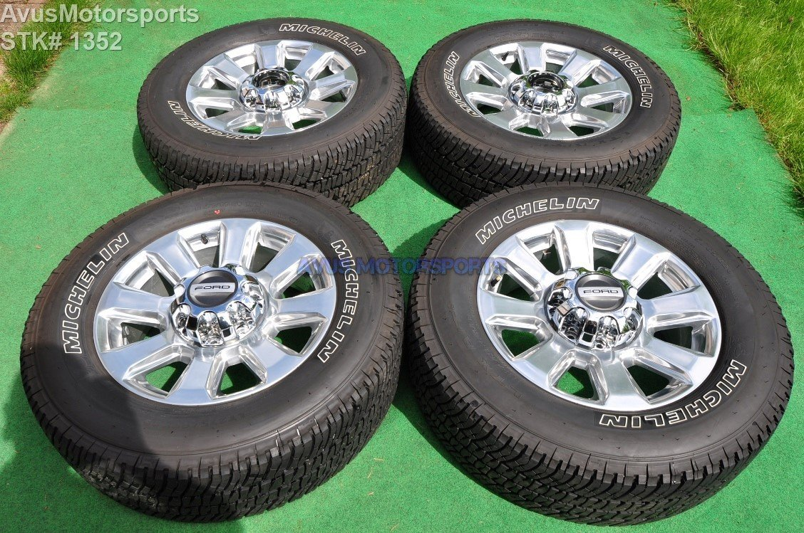 "20"" Ford F350 Super Duty Platinum OEM Factory Polished Wheels F250 2017  HC3C-1007-HA"