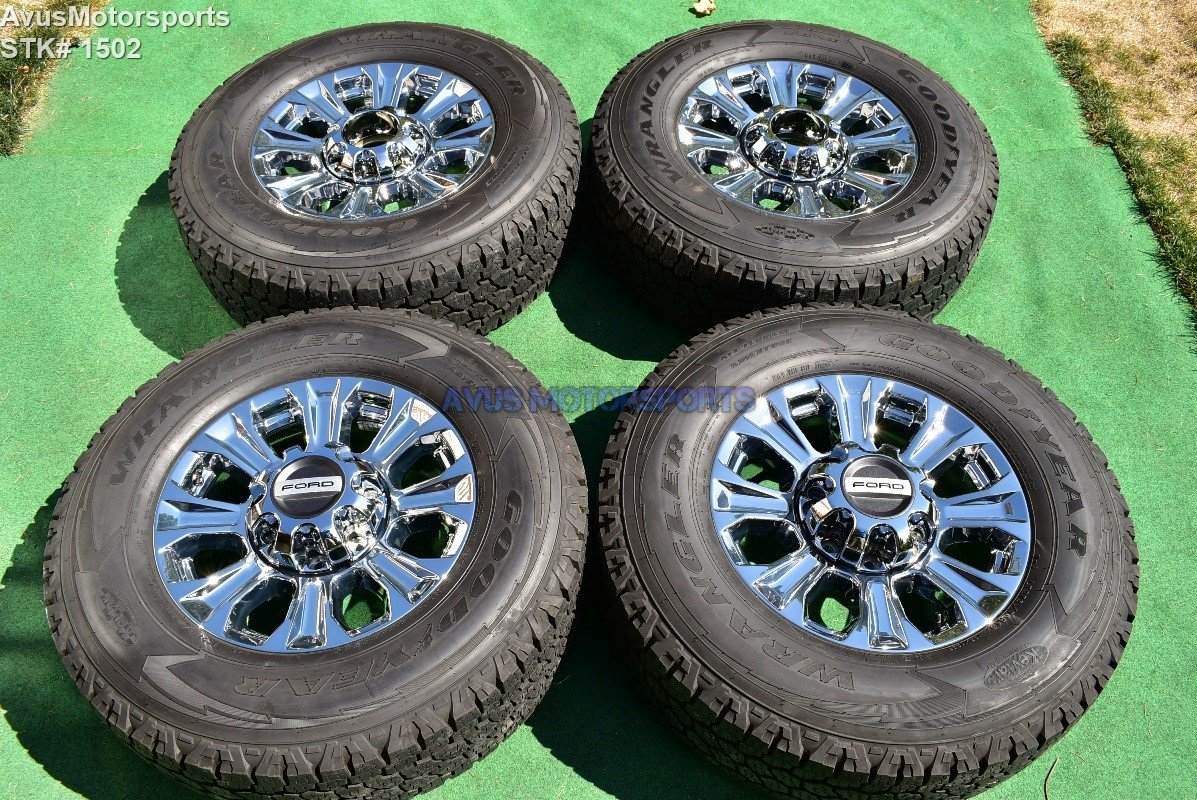 "2017 Ford F250 Super Duty 18"" Chrome OEM Factory Wheels F350 Lariat 2016 2015"