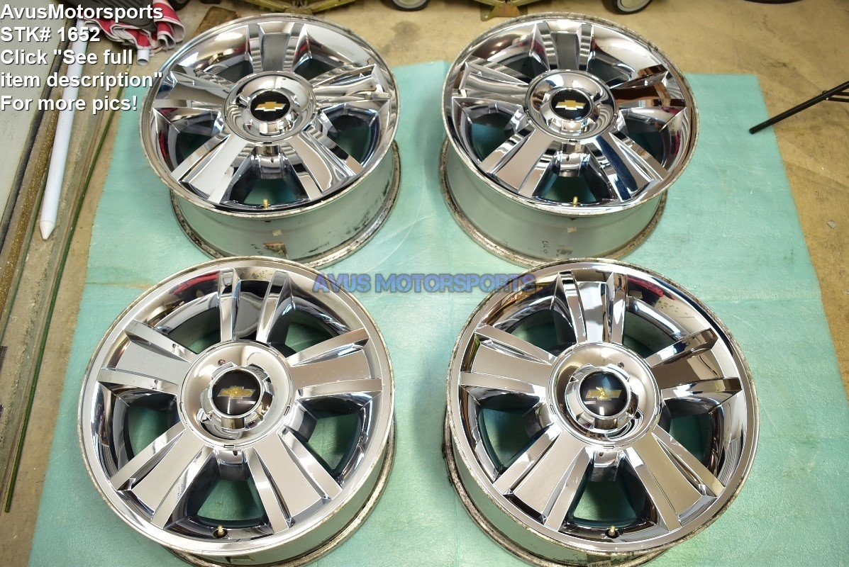 "20"" CHEVROLET SILVERADO OEM FACTORY CHROME WHEEL TAHOE SUBURBAN 9597599"