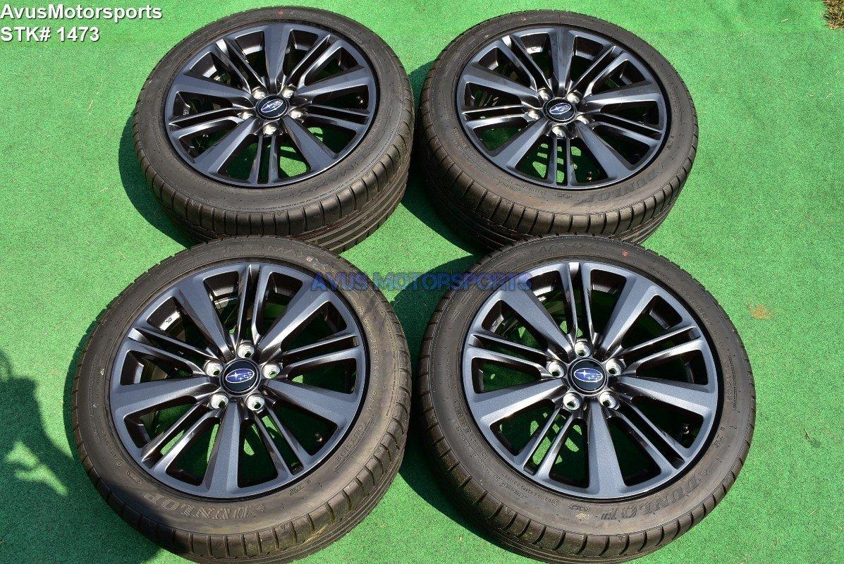 "17"" Subaru WRX OEM Factory Charcoal Gray Wheels 2017 5x114"