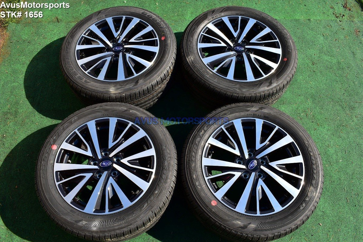 "2018 Subaru Legacy Premium OEM 17"" Factory Wheels & Tires 5x114 2015 2016 2017"