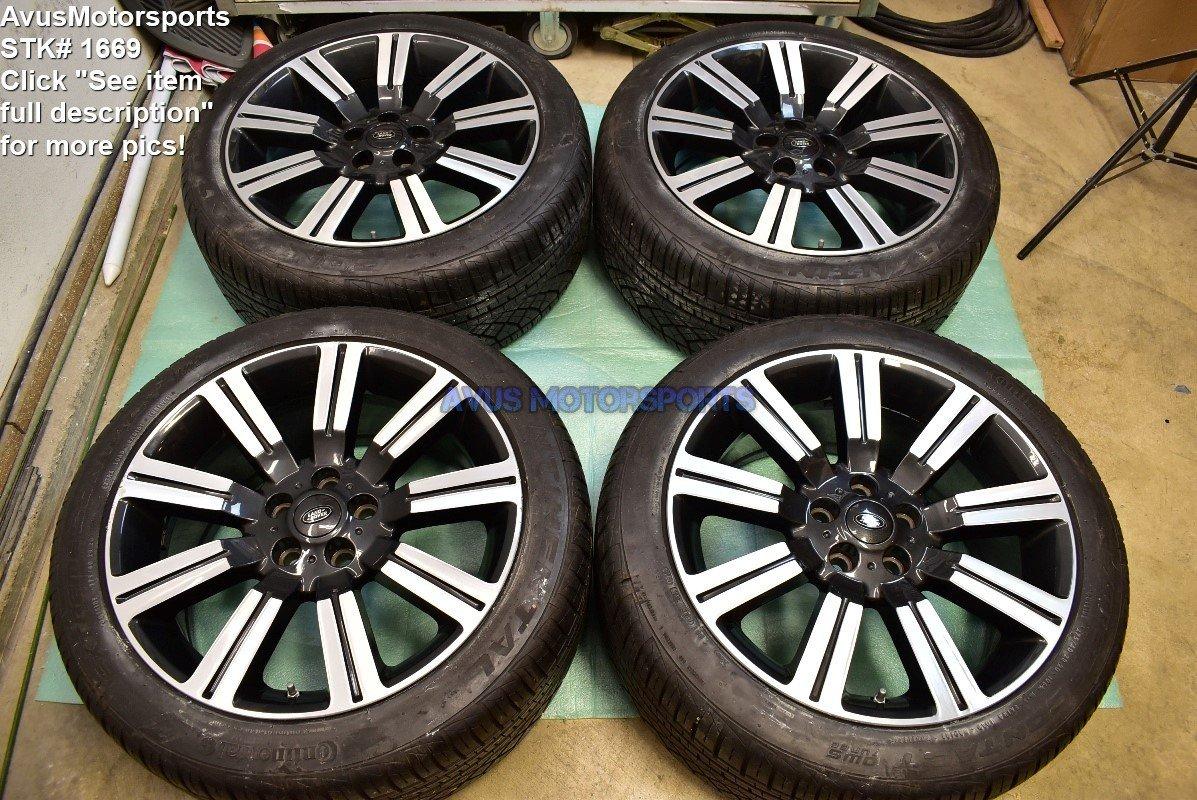"20"" Range Rover Sport OEM Stormer Wheels LR028995 Tires 2012 2013 2014 2015 Land"