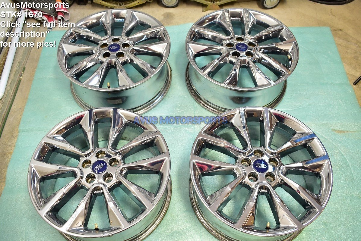 "19"" Ford Escape OEM Factory Polished Wheels 2015 2016 2013 2014 Edge"