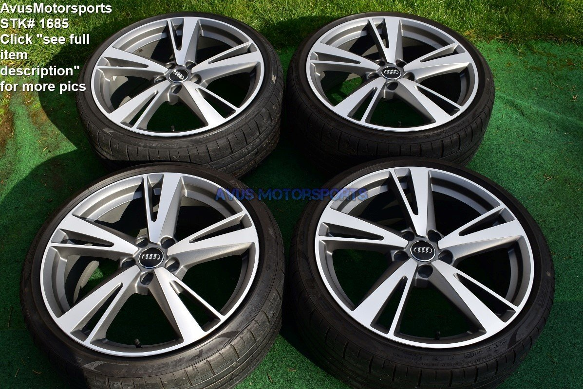 """19"""" Audi RS3 Factory OEM Genuine Arm Blade BBS Wheels & Tires S3 Staggered 2017"""