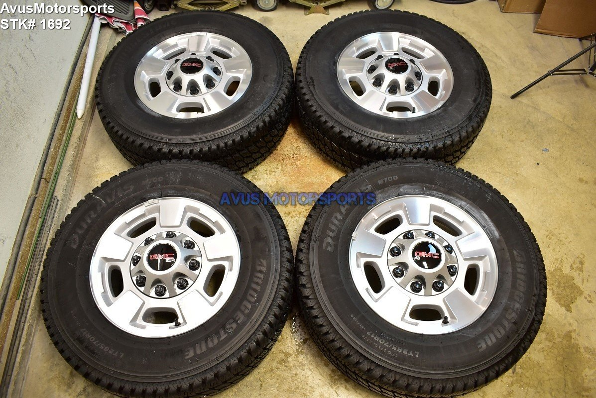 "17"" GMC Sierra 2500 3500 OEM POLISHED FACTORY WHEELS CHEVY SILVERADO LTZ 2016"