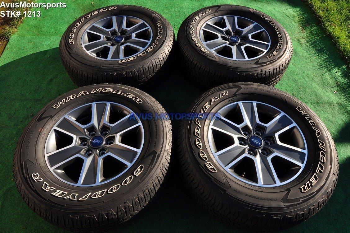 """18"""" Ford F150 OEM Wheels Factory Lariat FX4 Sport Goodyear 275/65r18 Tires 2017 FL341007CA FL341007NA FL341007PA"""