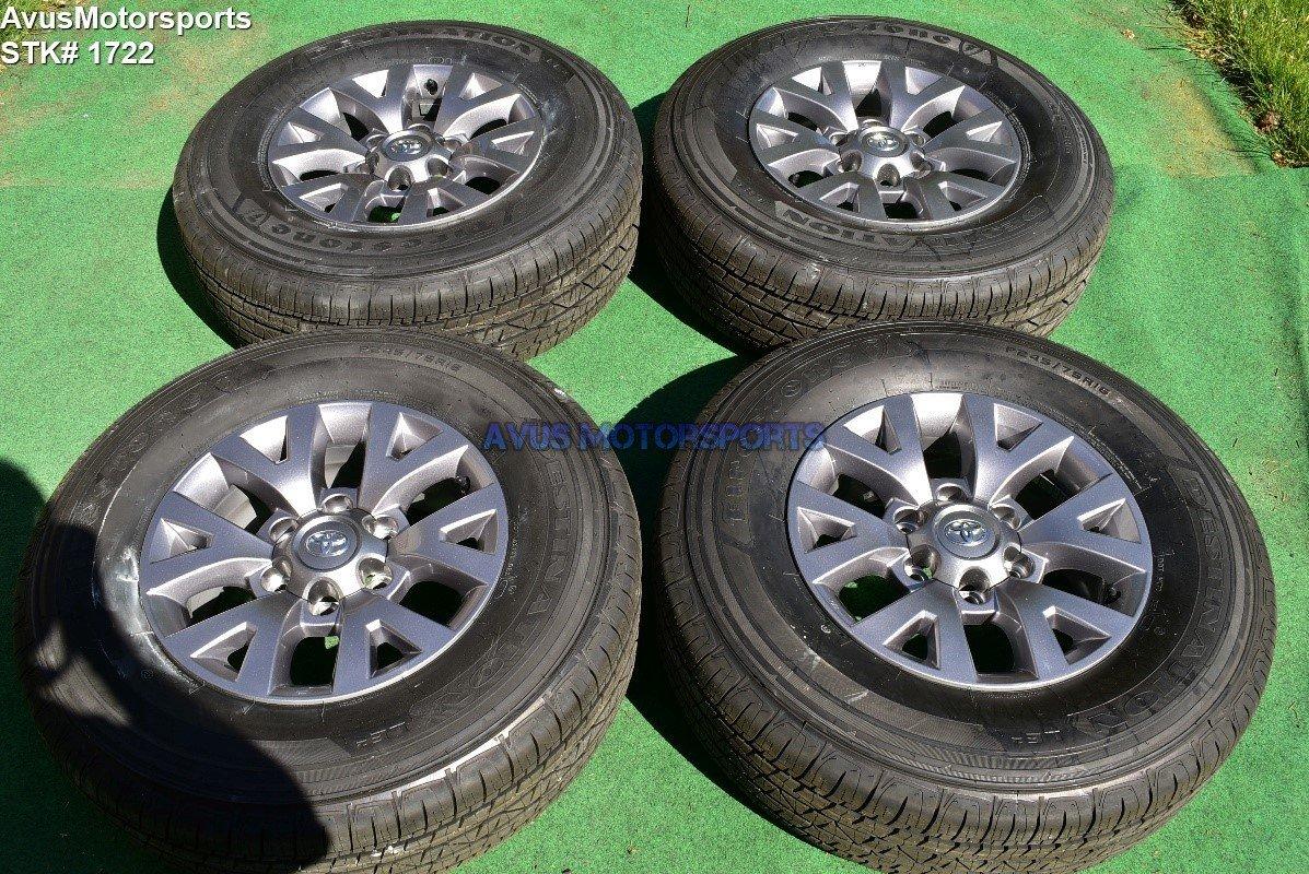 "16"" TOYOTA TACOMA OEM FACTORY WHEELS Tires Sequoia 4runner Tundra Land Cruiser"