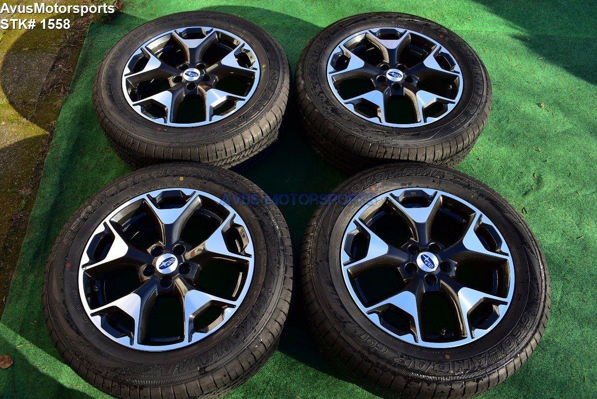 """2018 Subaru XV Crosstrek OEM 17"""" Factory Wheels Yokohama P225/60R17 Tires"""