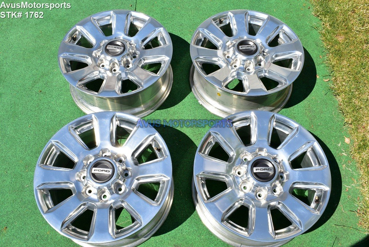 "20"" Ford F350 Super Duty Platinum OEM Factory Polished Wheels F250 2017"