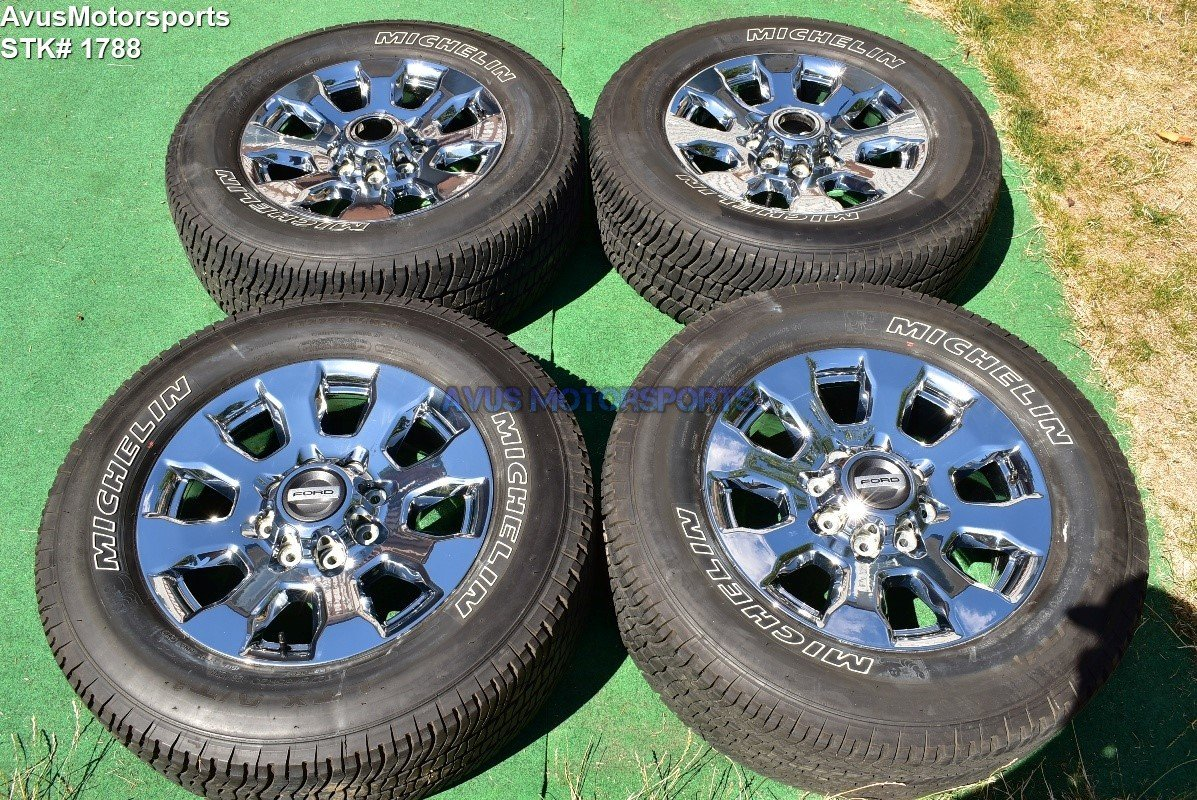 "20"" Ford F350 Super Duty Lariat OEM Factory Chrome PVD Wheels F250 2018"